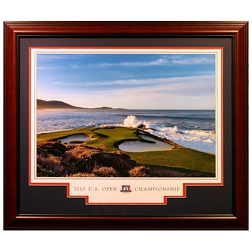2010 U.S. Open (Pebble Beach Hole #7) Deluxe Framed Poster - signed by Photographer