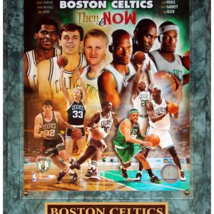 Boston Celtics (Then And Now Composite) Licensed 8x10 Photo Plaque