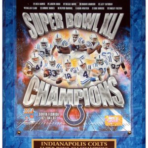 Indianapolis Colts (Super Bowl XLI Champions Composite) Licensed 8x10 Photo Plaque
