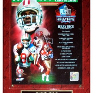 Jerry Rice San Francisco 49ers (2010 NFL Hall of FameComposite) Licensed 8x10 Photo Plaque