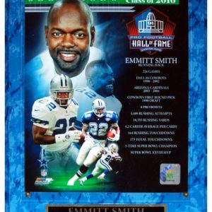 Emmitt Smith Dallas Cowboys (2010 NFL Hall of Fame Composite) Licensed 8x10 Photo Plaque