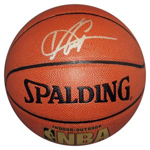 Vince Carter Autographed NBA I/O Basketball