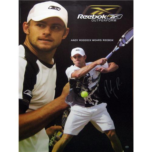 Andy Roddick Autographed Tennis (Reebok) Poster
