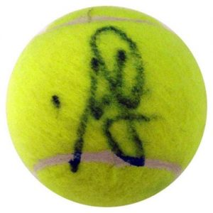 Monica Seles Autographed Tennis Ball