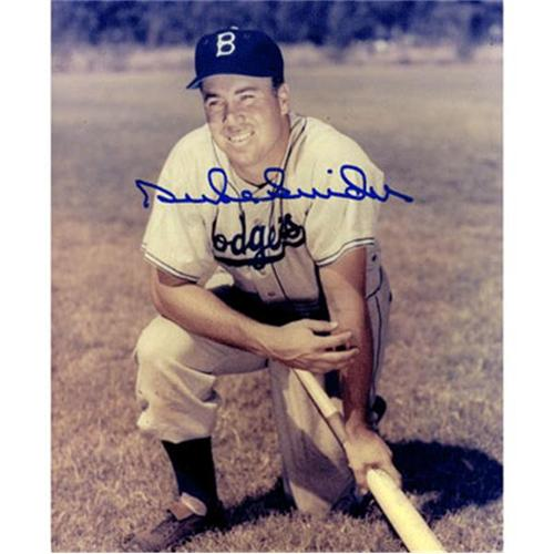 Duke Snider Autographed Brooklyn Dodgers (Pose with Bat) 8x10 Photo