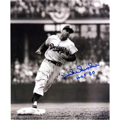 "Duke Snider Autographed Brooklyn Dodgers (Rounding Bases) 8x10 Photo w/ ""HOF '80"""