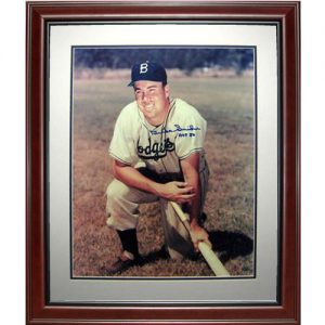 "Duke Snider Autographed Brooklyn Dodgers Deluxe Framed 16x20 Photo w/ ""HOF '80"""