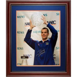 Billy Donovan Autographed Florida Gators (with Trophy) Deluxe Framed 16x20 Photo