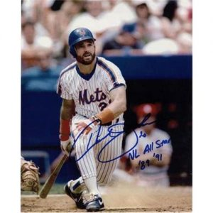 """Howard Johnson Autographed New York Mets 8x10 Photo w/ """"NL All-Star '89 '91"""""""