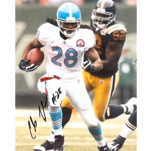 Chris Johnson Autographed Tennessee Titans (Throwback) 8x10 Photo