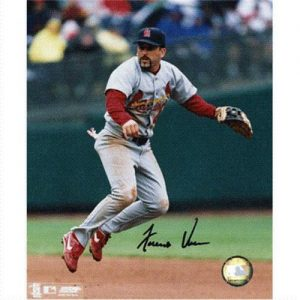 Fernando Vina Autographed St. Louis Cardinals (Fielding) 8x10 Photo