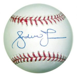 Andruw Jones Autographed MLB Baseball