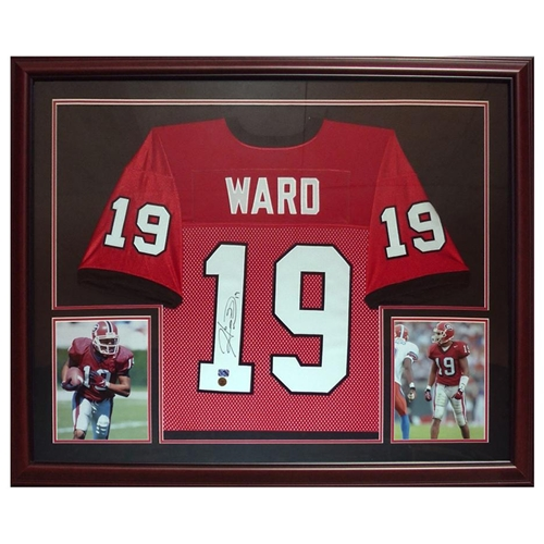 the latest c627d 4b9f0 Hines Ward Autographed Georgia Bulldogs (Red #19) Deluxe Framed Jersey -  Ward Holo