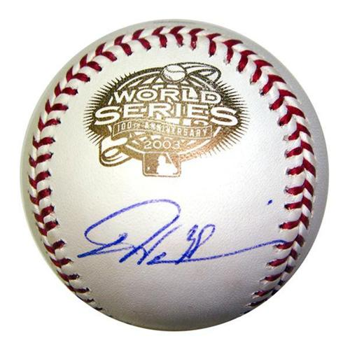 Dontrelle Willis Autographed Florida Marlins 2003 World Series Logo Baseball
