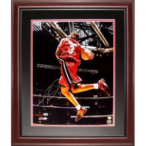 Dwyane Wade Autographed Miami Heat (All Star Dunk) Deluxe Framed 16x20 Photo