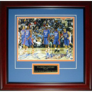 "Florida Gators ""Starting 5"" (Brewer , Green , Horford , Humphrey , Noah) Autographed (2006 Final Four) Deluxe Framed 11x14 Photo"