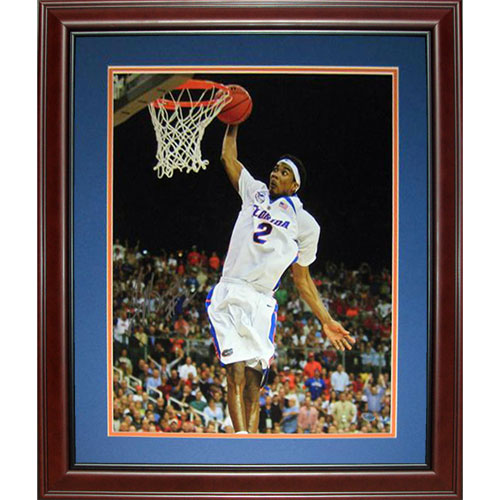 Corey Brewer Autographed Florida Gators (07 Final Four) Deluxe Framed 16x20 Photo