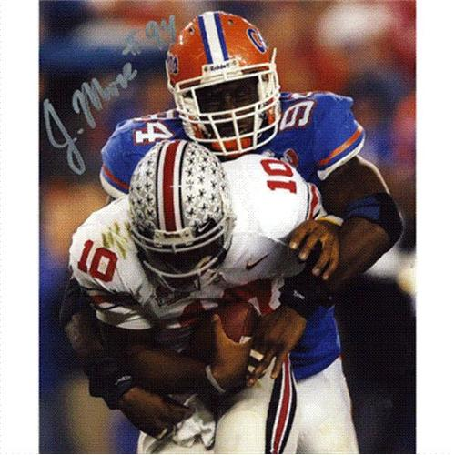 Jarvis Moss Autographed Florida Gators (BCS Game) 8x10 Photo