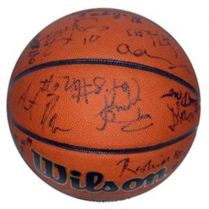 2002-03 Florida Gators Team and Billy Donovan Autographed NCAA Basketball