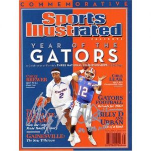 Chris Leak and Corey Brewer Autographed (Dual Champs) Commemorative Sports Illustrated
