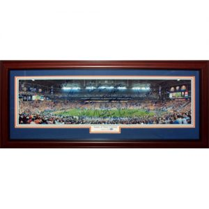 2006 Florida Gators Team and Urban Meyer Autographed Florida Gators (2007 BCS Championship) Deluxe Framed Panoramic Photo - 44 Signatures