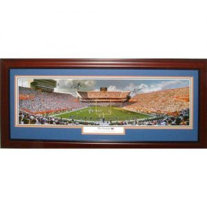 Steve Spurrier and Danny Wuerffel Autographed Florida Gators (The Swamp) Deluxe Framed Panoramic Photo