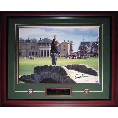 Arnold Palmer Autographed (1995 British Open Farewell) Deluxe Framed 16x20 Poster