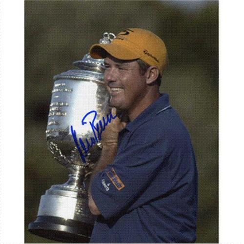 Rich Beem Autographed (PGA Championship Trophy) 8x10 Photo
