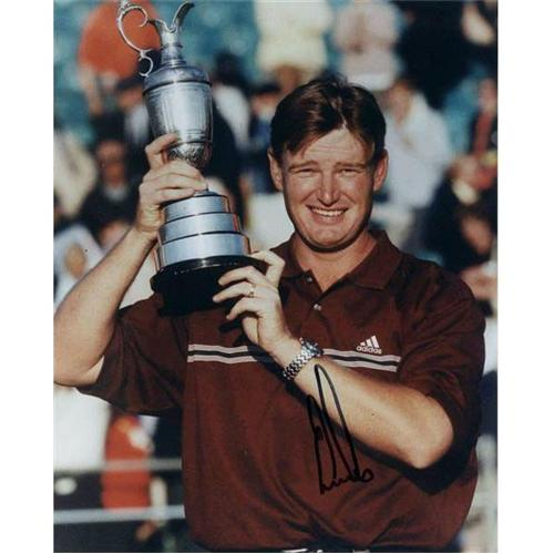 Ernie Els Autographed (British Open Trophy) 8x10 Photo