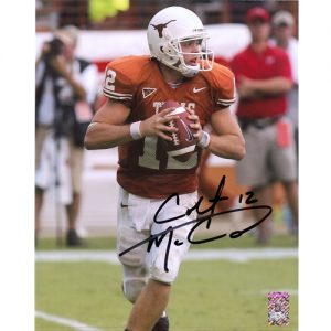 Colt McCoy Autographed Texas Longhorns 8x10 Photo - McCoy Holo