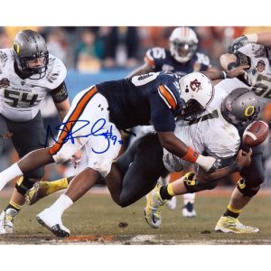 Nick Fairley Autographed Auburn Tigers (BCS Sack Horiz) 8x10 Photo
