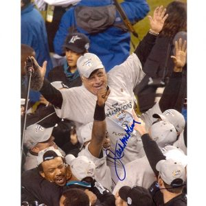 Jack McKeon Autographed Florida Marlins (WS Celebration) 8x10 Photo