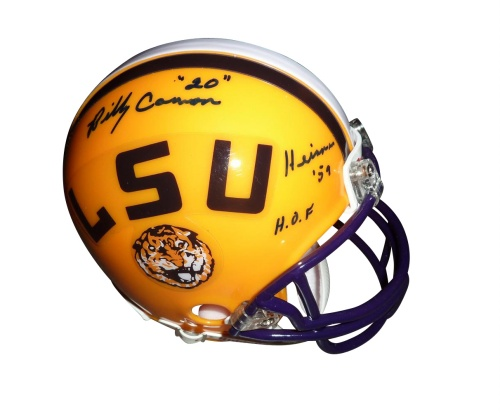 "Billy Cannon Autographed LSU Tigers Mini Helmet w/ ""Heisman 59"" , ""HOF"""