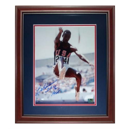"""Bob Beamon Autographed USA Long Jump Deluxe Framed 11x14 Photo w/ """"29ft 2 1/2 1968"""""""