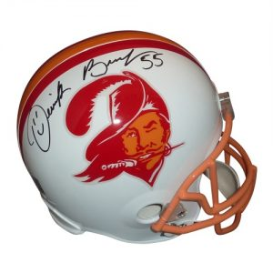Derrick Brooks Autographed Tampa Bay Buccaneers (Throwback) Deluxe Full-Size Replica Helmet - Brooks Holo