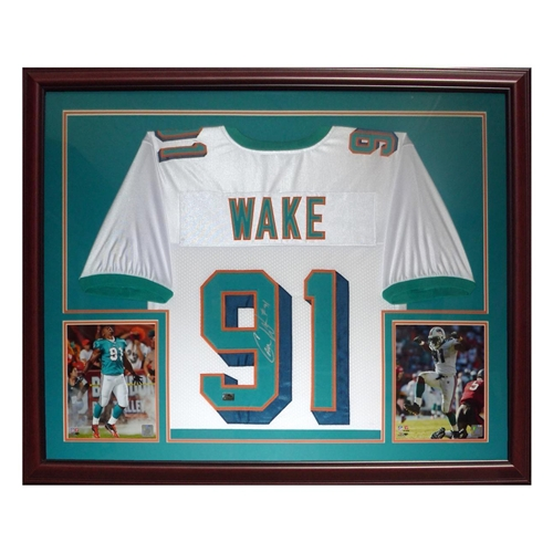 premium selection 235f4 b1d72 Cameron Cam Wake Autographed Miami Dolphins (White #91 ...