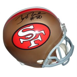Jerry Rice Autographed San Francisco 49ers Deluxe Full-Size Replica Helmet - Rice Holo