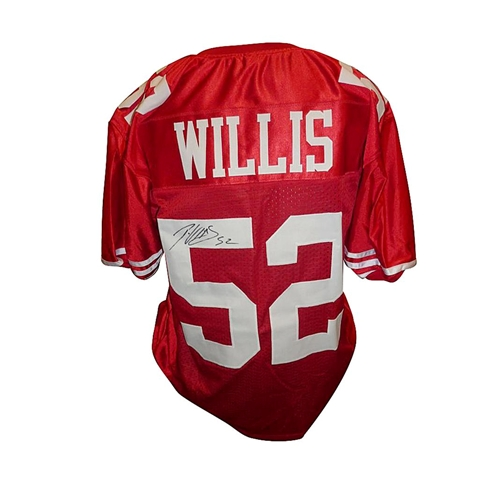 new style 105bd 9b97b Patrick Willis Autographed San Francisco 49ers (Red #52) Jersey