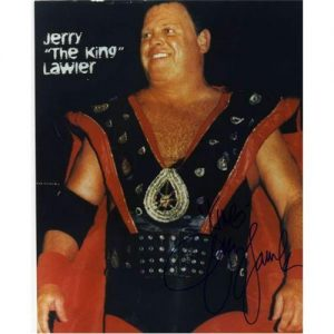 """Jerry """"The King"""" Lawler Autographed Wrestling 8x10 Photo"""