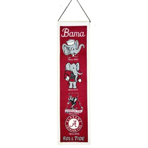 Alabama Crimson Tide Logo Evolution Heritage Banner