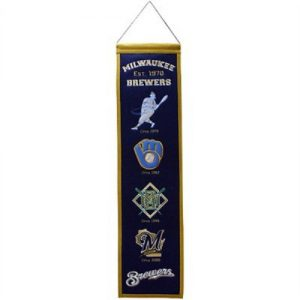 Milwaukee Brewers Logo Evolution Heritage Banner