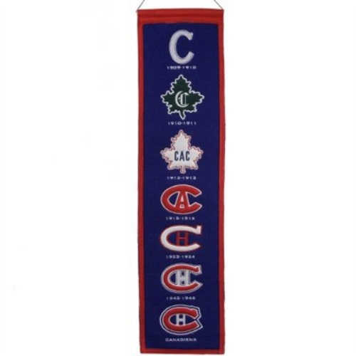 Montreal Canadiens Logo Evolution Heritage Banner
