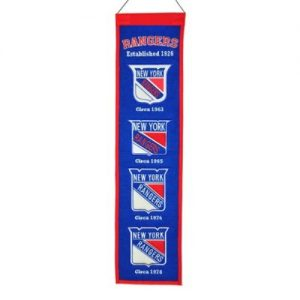New York Rangers Logo Evolution Heritage Banner