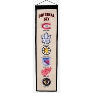 NHL Hockey Original Six Heritage Banner - Canadiens , Maple Leafs , Bruins , Rangers , Red Wings , Black Hawks