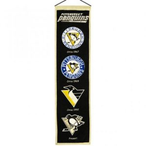 Pittsburgh Penguins Logo Evolution Heritage Banner