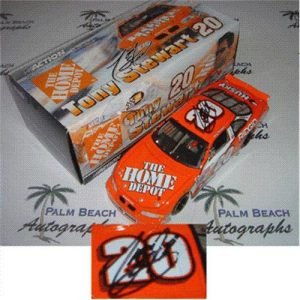 Tony Stewart Autographed Home Depot #20 (Action Bank) 1/24 Diecast Car