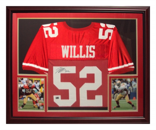 0d35672b6 Patrick Willis Autographed San Francisco 49ers (Red  52) Deluxe ...