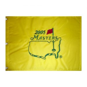 2005 Masters Embroidered Golf Pin Flag - Tiger Woods Champion , Jack Nicklaus Final