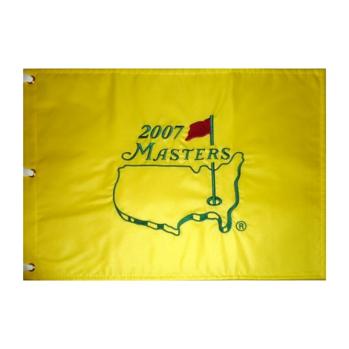 2007 Masters Embroidered Golf Pin Flag - Zach Johnson Champion