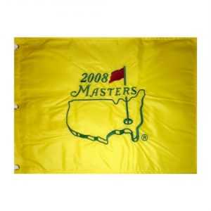2008 Masters Embroidered Golf Pin Flag - Trevor Immelman Champion